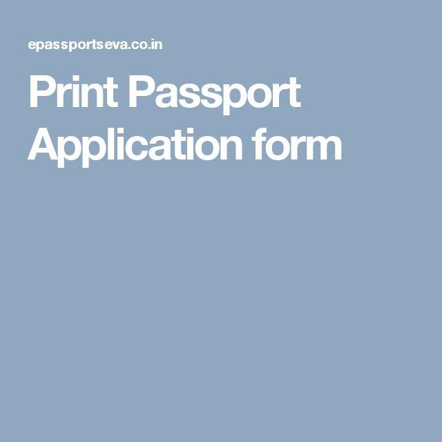 Best 25+ Passport Application Form Ideas On Pinterest Online   Passport  Consent Forms