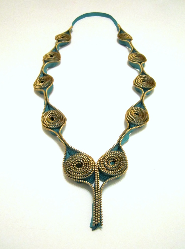 Zipper Necklace - Hidden Secrets. $99.00, via Etsy.