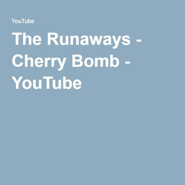 The Runaways - Cherry Bomb - YouTube
