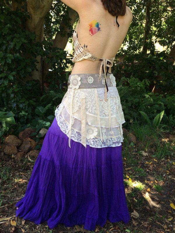 Hippie Gypsy Tattered Skirt by HippieGypsybyCherie on Etsy