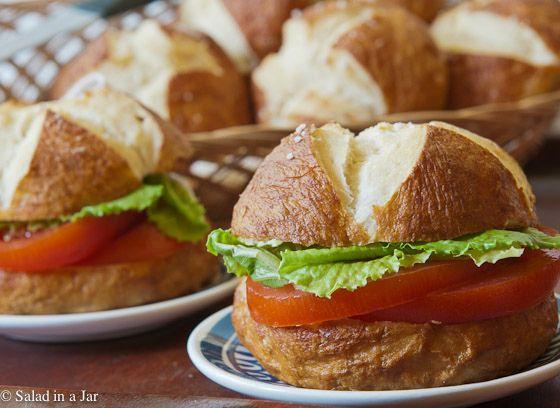Bread Machine Pretzel Buns; yeast bread, sandwich buns, pretzels, bread machine, recipe, lunch
