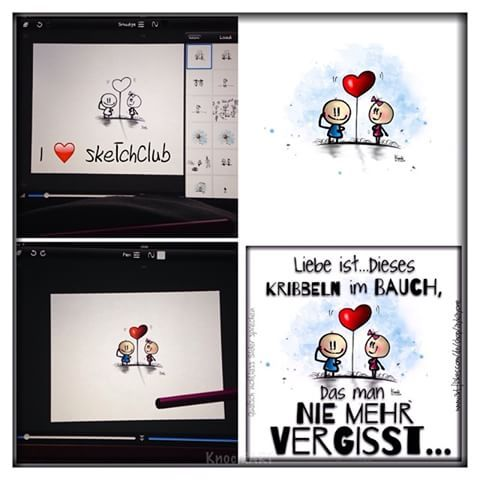 🎨 So entsteht ein #Bild von mir ... #knochiart 👈 wenn ich #lust und #zeit hab bin ich #kreativ ... Ich weiss die meisten #sprüche gibt es schon ...Ich mag sie aber am #liebsten alle auf meine #art verbreiten und einfach #verschönern 😚✌️ Mein #Favorit unter den  #malen #apps ist #sketchclub #app❤️ 🎨👌😉