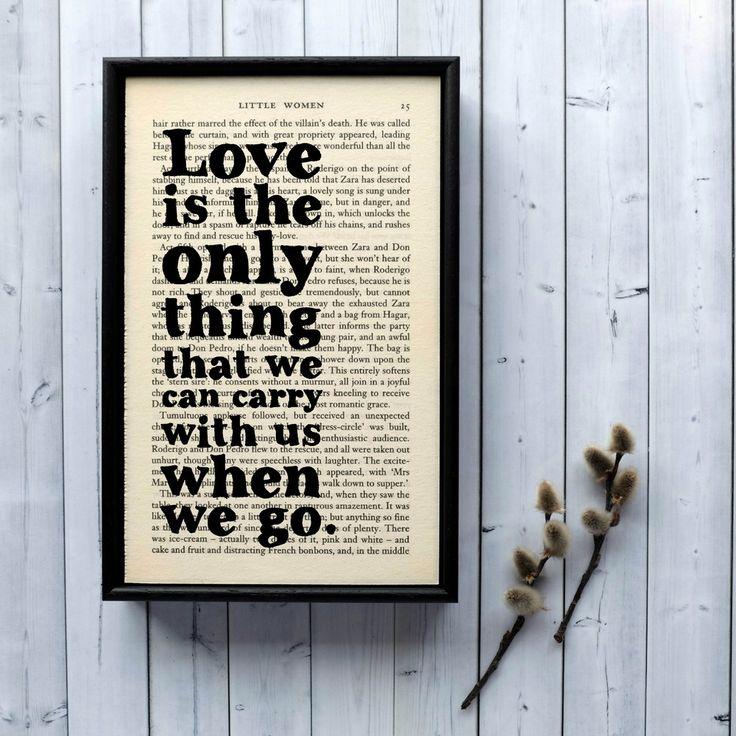 Plakát v dřevěném rámu Little Women Love | Bonami