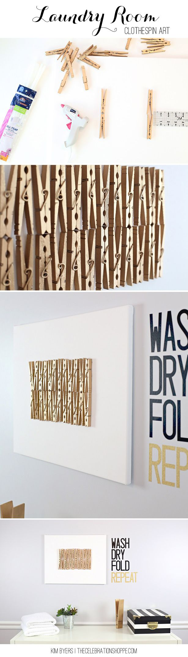 Clothespin crafts for your laundry room