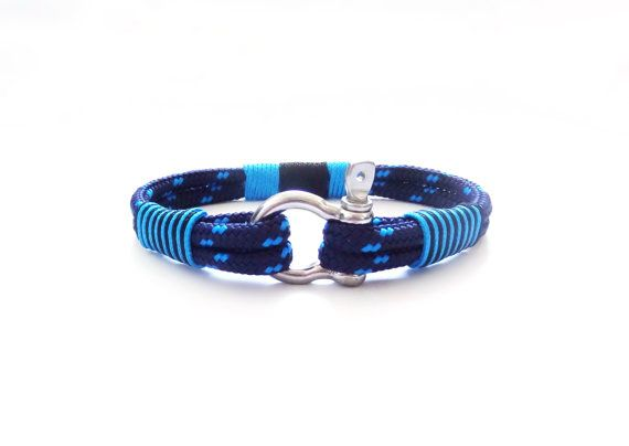 FREE SHIPPING, Nautical bracelet,Sailor Bracelet, Mens bracelet, mens anchor bracelet, surfer bracelet, paracord bracelet,Shackle Bracelet.