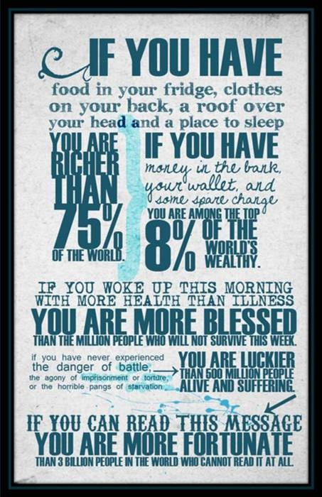 We are SO fortunate!