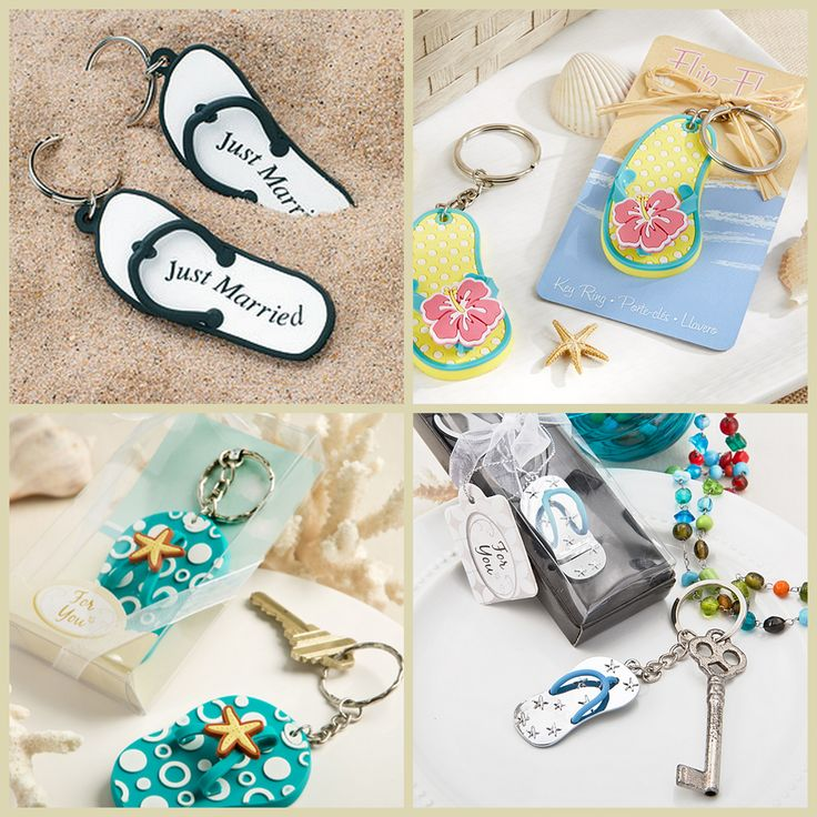 Flip Flops Keychain Favors from HotRef.com