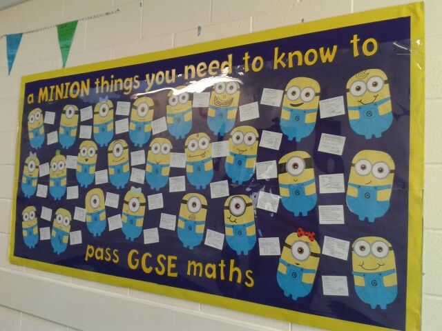 This would get our attention: Secondary maths display
