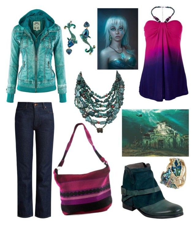 """""""Atlantis Mall Shopping Day"""" by hellenrose7292 on Polyvore featuring Betsey Johnson, Venus, Bliss and Mischief, Miz Mooz and NOVICA"""