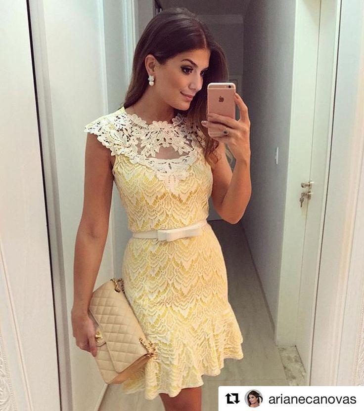 """1,042 Likes, 54 Comments - Luzia Fazzolli (@luziafazzollioficial) on Instagram: """"A escolha da linda @arianecanovas para esse domingo a noite foi nosso #Dress de renda com detalhes…"""""""