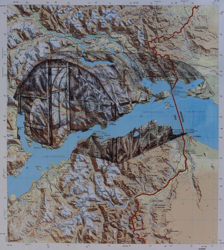 Dibujo sobre mapa