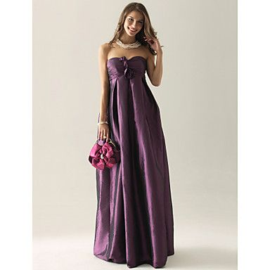 Empire Strapless Floor-length Taffeta Bridesmaid/ Wedding Party Dress – USD $ 99.99