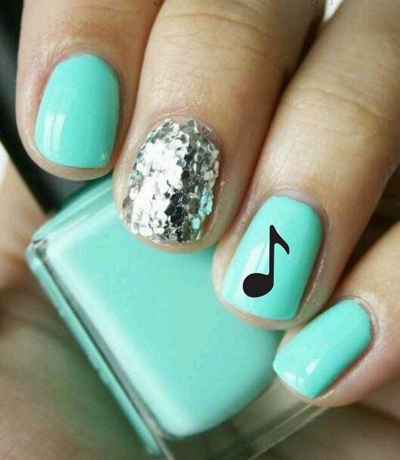 Nail Art Music Note Decal by NovemberIndustries on Etsy.