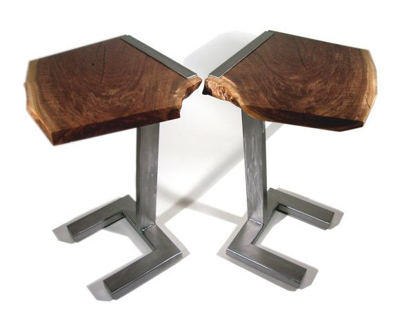 Modern contemporary end tables by AaronSmithWoodworker on Etsy