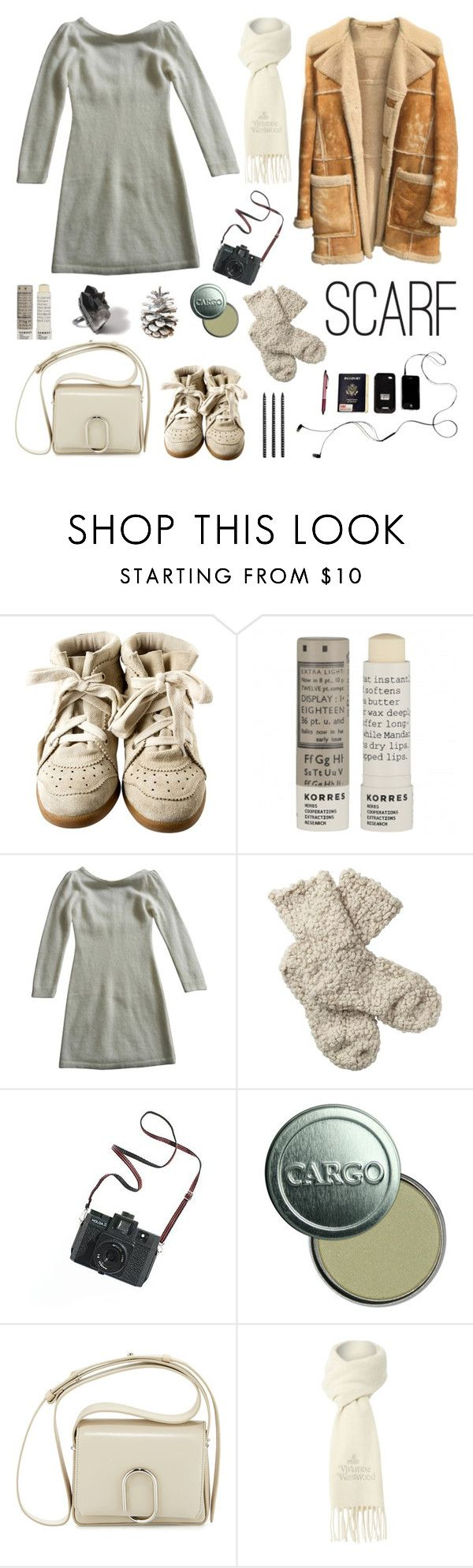 """Scarf"" by deepwinter ❤ liked on Polyvore featuring Isabel Marant, Korres, BA&SH, Fat Face, Madewell, CARGO, 3.1 Phillip Lim, Vivienne Westwood, Design Letters and scarf"