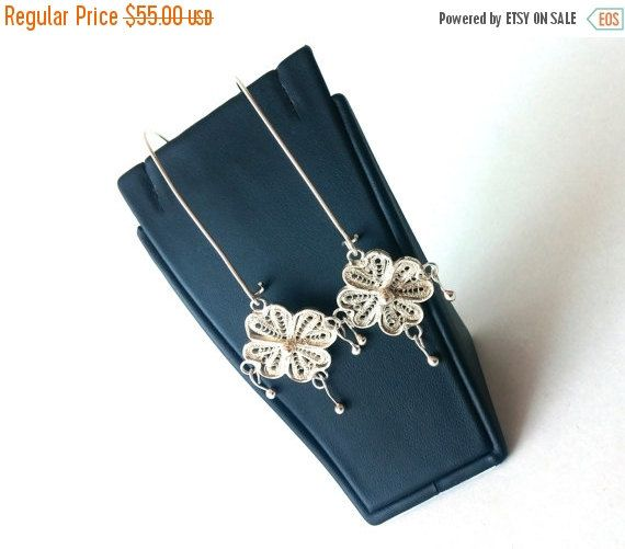 Mothers Day ON SALE Filigree Earrings, Sterling Silver Earrings 925,  Unique Earrings, Gift, Women Jewelry, Wedding, Bridesmaids, Gift For H