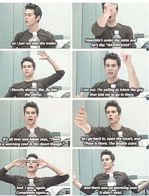 Okay Dylan, i don't know right now if its his dream or real day with cast XD