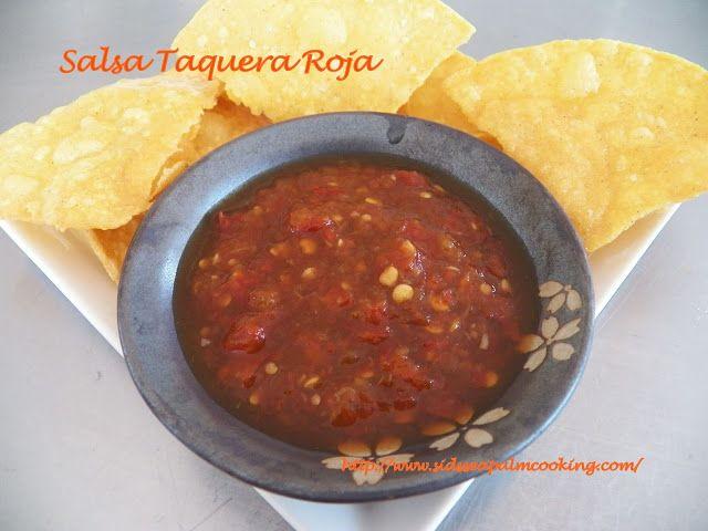 Salsa Taquera Roja with Homemade Tortilla Chips