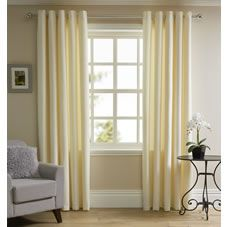 Dress you windows and add style to your living space with our Waffle Weave Curtains. The beautifully textured waffle weave curtains will enhance your décor and add a real style lift. The cream eyelet curtains look great on curtain poles and are so easy to hang. They're lined too, for enhanced quality. <BR> <BR>Washing instructions: Machine wash at 30 degrees. Always read the label.