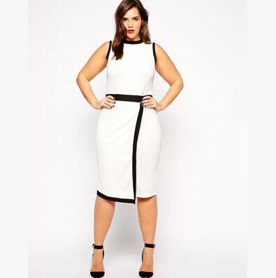 Chic White Work Dress Sleeveless