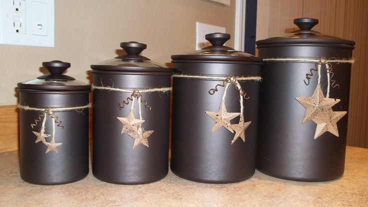 primitive kitchen canisters what i did with plain chocolate canaster s canisters 14637