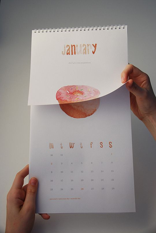 30 Creative, Colorful & Inspiring 2012 Calendar Designs