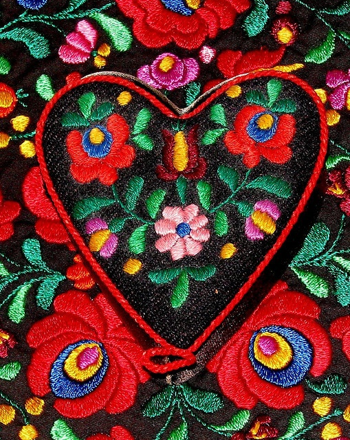 Hungarian Matyo style embroidery                                                                                                                                                      More