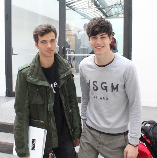 Lucas Partyka with Simone Nobili at casting for Calvin Klein Jeans