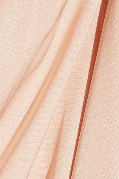Elizabeth and James - Almeria Satin Wrap Maxi Skirt - Peach - medium