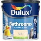Dulux Bathrooms paint offers up to 5 years' mould and mildew resistance. This exceptionally tough soft sheen emulsion has been specially formulated to be moisture resistant so that it withstands splashes and is therefore perfect for areas of high condensation.