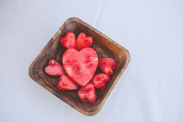 Wedding Details, fruit shaped like hearts. Caterer: Hyatt Lost Pines, Planning: Clearly Classy Events