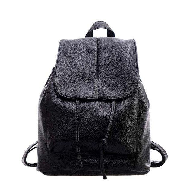 1dac488ab087 New Fashion Women Backpack Unique Woven Casual Double Shoulder Bags Soft PU  Leather Students School Bag