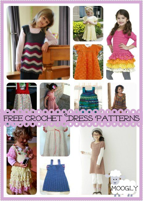 Roundup of 12 Gorgeous and FREE Crochet Dress Patterns for Girls! If only I knew some little girls...
