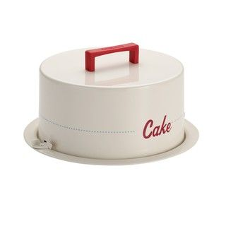 Cake Boss Serveware 'Cake' Cream Metal Cake Carrier - Overstock™ Shopping - The Best Prices on Cake Boss Cake Decorating
