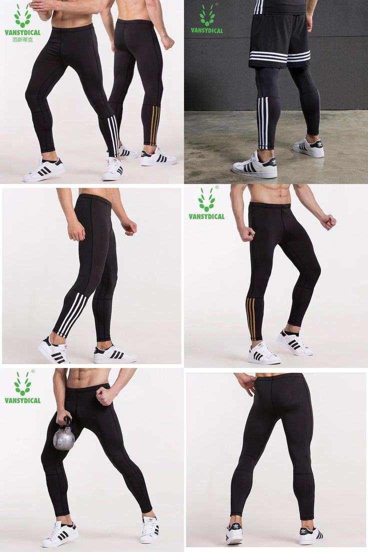 [Visit to Buy] Men's  basketball tights sports leggings pants running fitness elastic compression pants Sweatpants Bodybuilding Gym Trousers #Advertisement