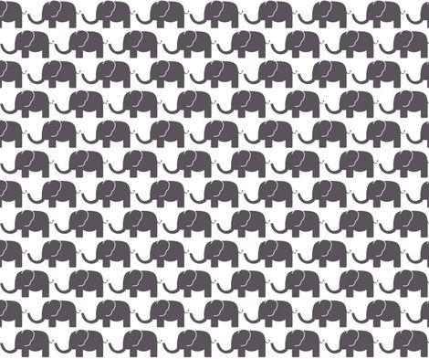 black elephant fabric by arrpdesign on Spoonflower - custom fabric