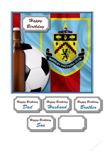 Burnley fc card front by Susan Gilbert Burnley fc card front Several sentiments including one blank: Burnley fc card front Several…