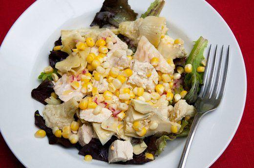 3. Artichoke, Chicken and Corn Grain Salad