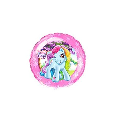 """Balon foliowy okrągły z nadrukiem- wzór Kucyki Ponny.Starannie wykonany, żywy i kolorowy nadruk.Wielkość 18"""" Można go napełnić powietrzem lub helem.Cena dotyczy jednej sztukiJUŻ TERAZ, OD RĘKI, W NASZYM SKLEPIE STACJONARNYM, NAPEŁNIĄ PAŃSTO BALONY HELEM.CENA 10ZŁ ZA SZTUKĘ ( BALONY FOLIOWE)."""