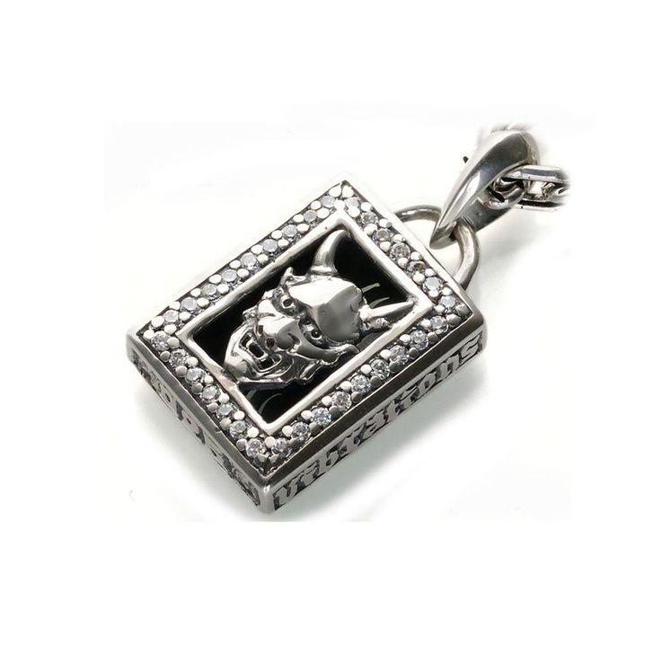 7 best hannya japanese pendant ring images on pinterest sterling hannya white cz 925 sterling silver fangs horns biker rocker pendant gb 165 aloadofball Gallery