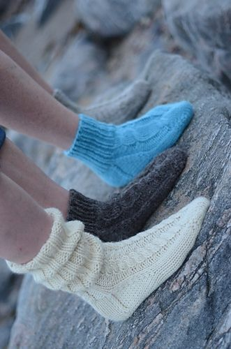 Ravelry: Cosy Cabled Toe-Up Socks pattern by Janice Anderson