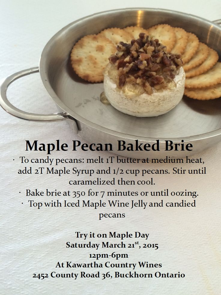 Who doesn't love baked brie? This is an awesome recipe made with our Iced Maple Wine Jelly. It's also delicious with our Spiced Pumpkin Wine Jelly and candied Pumpkin Seeds.