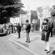 In 1965, South Africa toured England. At Lord's Cricket Ground in London they were met by anti-apartheid demonstrators. Courtesy: Douglas Miller, Getty Images.