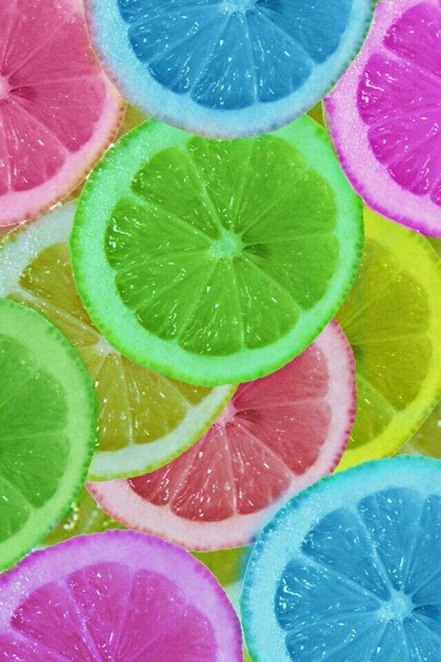 Fondo de pantalla de naranjas multicolores