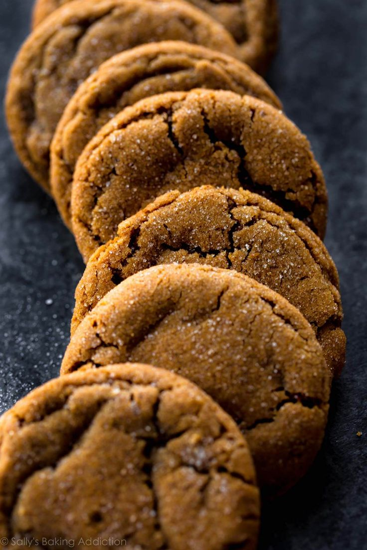 These seriously soft molasses cookies are the most tender and chewy gingersnap cookies around! A must-make recipe for your Christmas cookie platters.