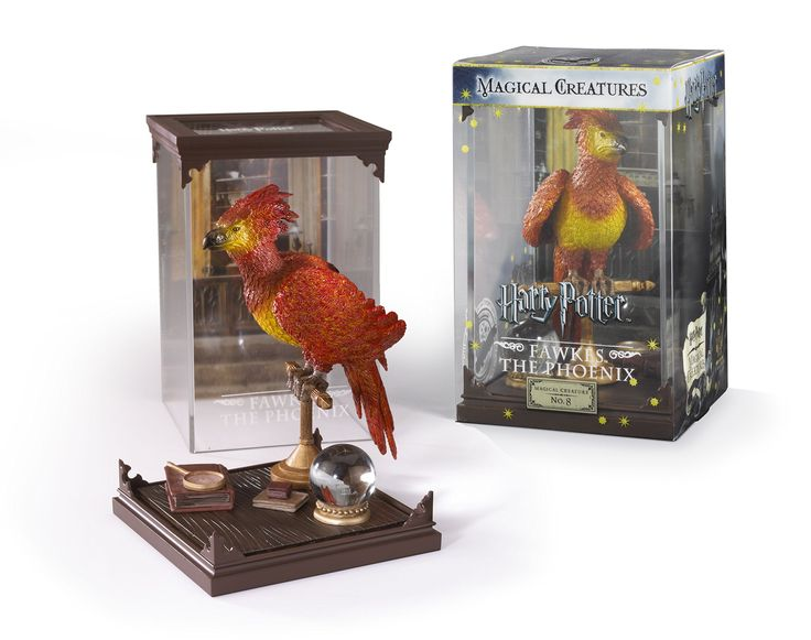 Noble Collection Harry Potter NN7540 Magical Creatures, Fawkes The Phoenix. Intricately detailed and painted. Removable cover and creature. Display case measures approximately 7 inches x 4.25 inches. Officially authorized by Warner Brothers. Part of the Harry Potter Magical Creatures series - Collect them all!.