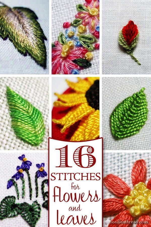Trendy Hand Embroidery Stitches Tutorial For Beginners Part 1 D