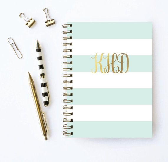 Monogram Planner - have your monogram custom printed in gold foil. Planner by Karma Paper Co.