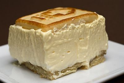 """""""best banana pudding ever"""". Crust: Pepperidge Farm Chessmen cookies, Filling: bananas, milk, instant French vanilla pudding, cream cheese, sweetened condensed milk, frozen whipped topping (or sweetened whipped cream). by lara.santa"""
