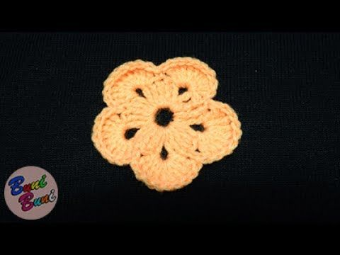 CROSETAT - Floare simpla 5 petale (Crochet flower)Frez